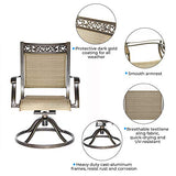 dali Swivel Rocker Chair,Cast Aluminum All Weather Comfort Club Arm Patio Dining Chair 2 Pc