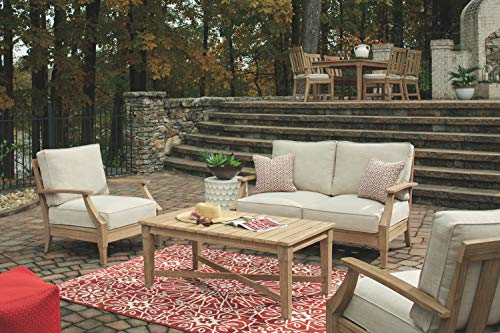 Signature Design by Ashley P801-835 Clare View Loveseat w/Cushion, Beige