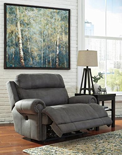 Ashley Furniture Signature Design Austere Power Oversized Recliner - Gray