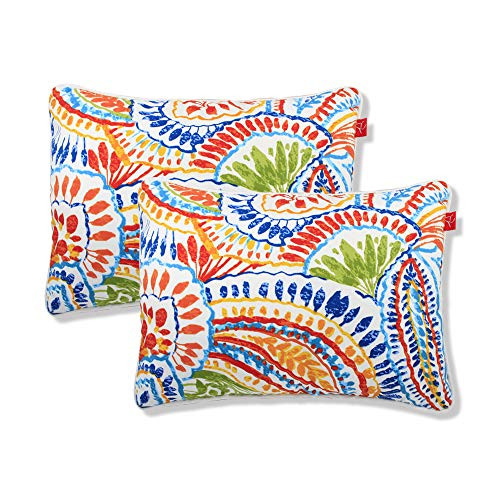 Pcinfuns Water Resistant Indoor/Outdoor Rectangle Patio Decorative Stripe Throw Pillow Cushion - Set of 2