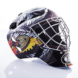Franklin Sports Anaheim Ducks Goalie Mask - Team Graphic Goalie Face Mask - GFM1500 Only for Ball & Street - NHL Official Licensed Product