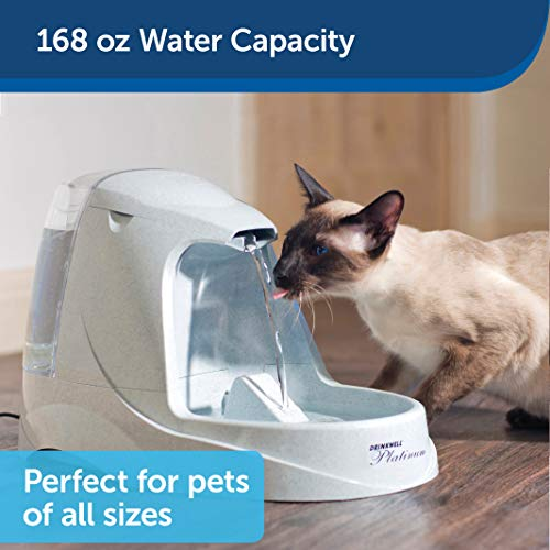 PetSafe Drinkwell Platinum Dog and Cat Water Fountain, Automatic Drinking Fountain for Pets, 168 oz.