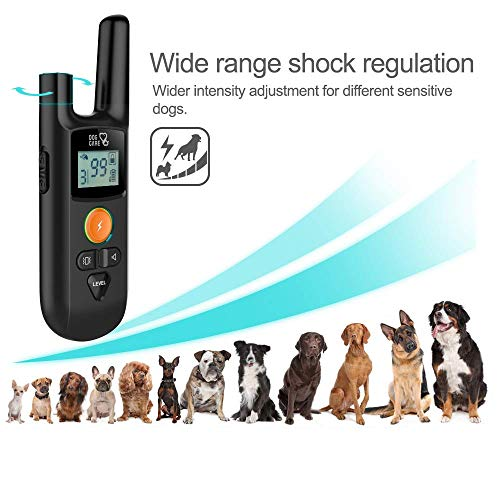 Dog Training Collar - Enhanced Rechargeable Dog Shock Collar w/3 Training Modes, Beep, Vibration and Shock, Waterproof Training Collar, Up to 1000Ft Remote Range, 0~99 Shock Levels Dog Training Set