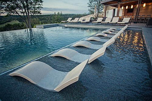 Ledge Lounger in-Pool Chaise Lounge for 0-9 in. of Water (Set of 2, Cloud)