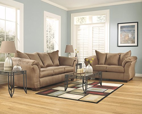 Signature Design by Ashley 7500235 Darcy Loveseat, Mocha