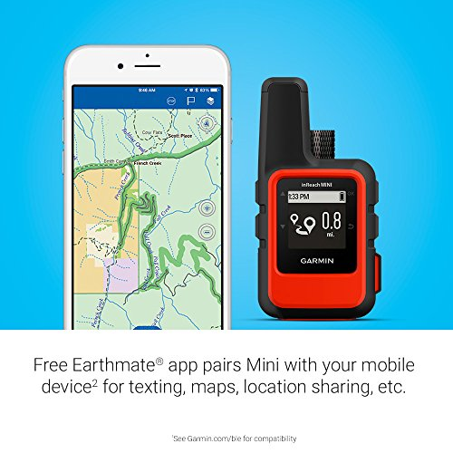 Garmin inReach Mini, Lightweight and Compact Handheld Satellite Communicator, Orange