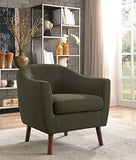Homelegance Lucille Fabric Barrel Chair, Sage Gray