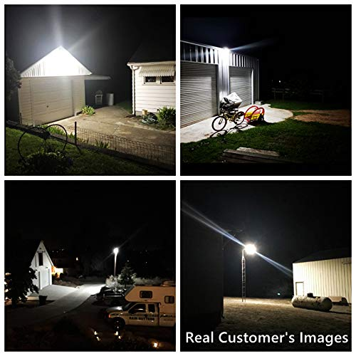 Bobcat LED Area Light 80 Watts Dusk to Dawn Photocell Included, Perfect Yard Light or Barn Light, 9500 Lumens, 5000K, UL Listed, DLC, 200W HID Light Equivalent, 5-Year Warranty - Replaceable Photocell