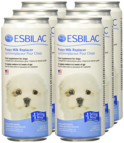 Esbilac (6 Pack) Liquid for Puppies, Milk Replacer - 11 Ounces Each