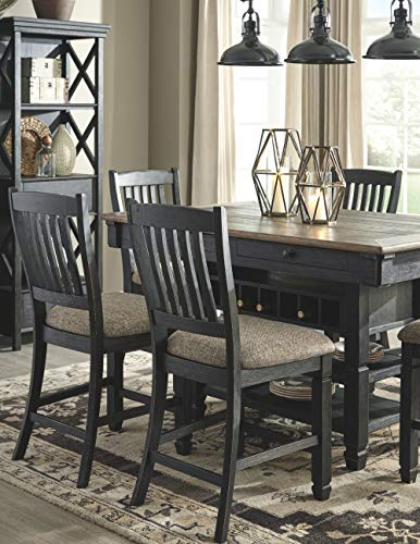 Ashley Furniture Signature Design - Tyler Creek Counter Height Bar Stool - Black/Gray