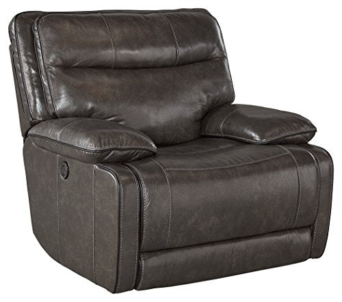 Ashley Furniture Signature Design - Palladum Power Rocker Recliner - Contemporary Reclining Couch - Color Metal