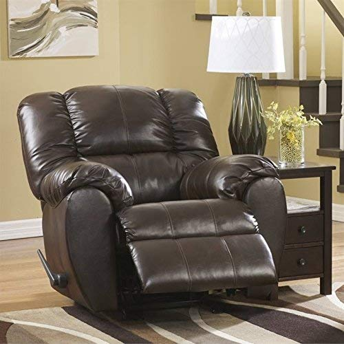 Ashley Furniture Signature Design - Dylan Rocker Recliner - Pull Tab Manual Reclining Sofa - Contemporary - Espresso Brown