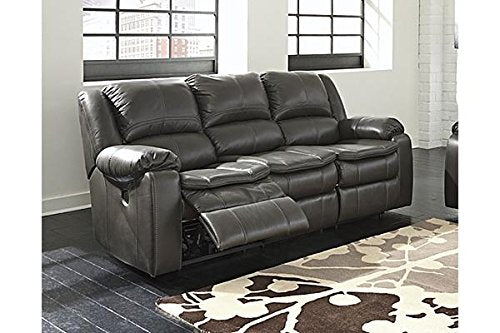 Ashley Furniture Signature Design - Long Knight Recliner Sofa - Power Reclining Motion - Gray