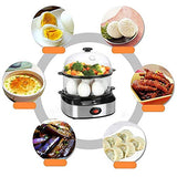 Egg Cooker,PowerDoF Multifunctional Double Layer Rapid Electric Egg Steamer Boiler with 14 Egg Capacity
