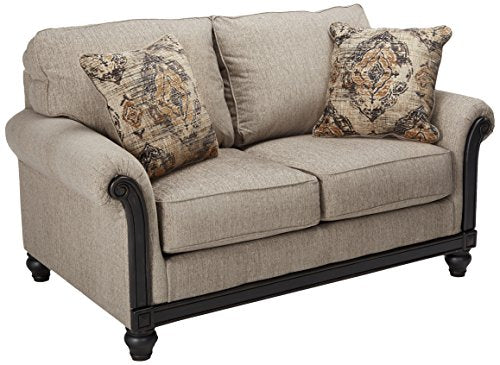 Ashley Furniture Signature Design - Blackwood Traditional Style Loveseat - Taupe
