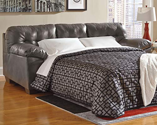 Ashley Furniture Signature Design - Alliston Contemporary Sleeper Sofa - Queen Size Mattress Included - Gray