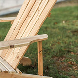 Patio Festival Wood Adirondack Lounger Chair,Outdoor Fir Unpainted Wooden Chairs,Accent Furniture for Yard,Patio,Garden,Lawn w/Natural Finish (Adirondack Chair)