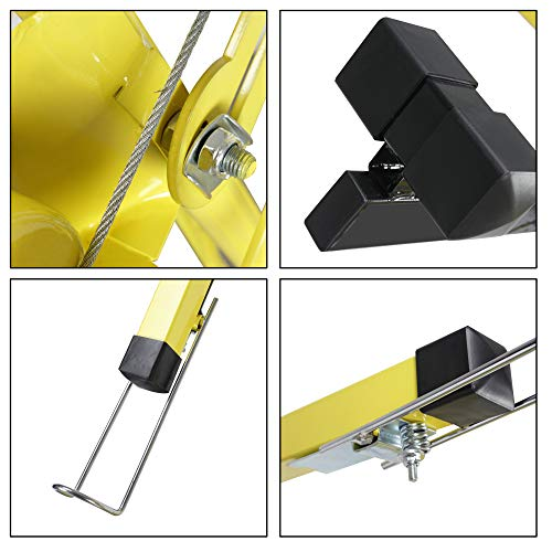 ARKSEN Drywall Panel Lift Dry Wall Panel Hoist Adjustable Lockable Lifter Ceiling Max 11 FT w/Caster Wheels, Yellow