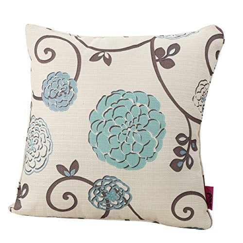 Christopher Knight Home 301589 Velvin New Velvet Throw Pillow (Set of 2) (Blue & White Floral)