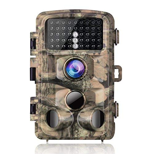 "Campark Trail Game Camera 14MP 1080P Waterproof Hunting Scouting Cam for Wildlife Monitoring with 120°Detecting Range Motion Activated Night Vision 2.4"" LCD IR LEDs"