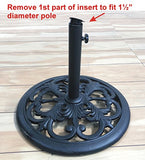 TropiShade 30 Pound Black Powder Coated Cast Iron Umbrella Stand