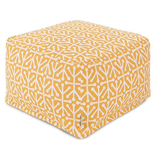 Majestic Home Goods Aruba Ottoman, Large, Citrus