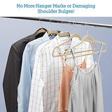 Zober Non-Slip Velvet Hangers - Suit Hangers (50-pack) Ultra Thin Space Saving 360 Degree Swivel Hook Strong and Durable Clothes Hangers Hold Up-To 10 Lbs, for Coats, Jackets, Pants, and Dress Clothes