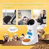 Homdox Automatic Cat Feeder Pet Food Dispenser for Cat Dog, Auto Cat Feeder with Timer Programmable, Portion Control & Voice Recording - 4 Meals for Medium Large Cats