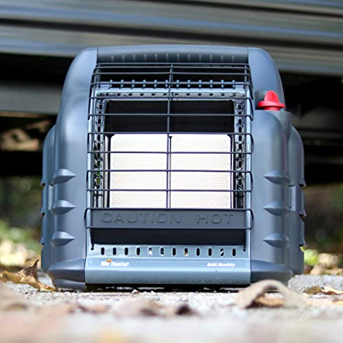 Mr. Heater F274830 MH18BRV Big Buddy Grey Indoor-Safe Portable RV Propane Heater (4,000 , 9,000 and 18,000 BTU)