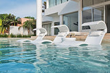 Ledge Lounger in-Pool Chaise Deep Lounge for 10-15 in. of Water (Set of 2, Cloud)