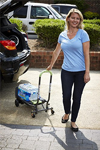 Cosco Shifter 300-Pound Capacity Multi-Position Folding Hand Truck and Cart, Pink