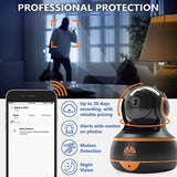 [New 2019] FullHD 1080p WiFi Home Security Camera Pan/Tilt/Zoom - Best Rated Smart App, Work with Alexa - Wireless IP Indoor Surveillance System - Night Vision, Remote Baby Monitor iOS (Black)