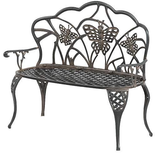 Oakland Living Butterfly Cast Aluminum Loveseat, Antique Bronze