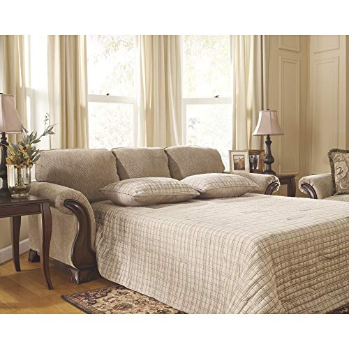 Ashley Furniture Signature Design - Lanett Sleeper Sofa - Queen - 3 Seat Traditional Couch with Sofa Bed Inside - Barley