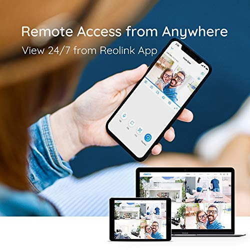 Reolink 8CH 5MP PoE Home Security Camera System, 4pcs Wired 5MP Outdoor PoE IP Cameras, 5MP 8-Channel NVR Security System with 2TB HDD for 24/7 Recording, RLK8-410B4-5MP