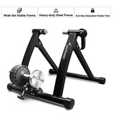 Sportneer Bike Trainer Stand Steel Bicycle Exercise Magnetic Stand with Noise Reduction Wheel, Black
