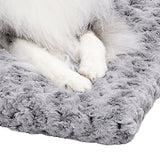 Plush Dog Bed | Ombré Swirl Dog Bed & Cat Bed | Gray 35L x 23W x 2H - Inches for Med. / Large Dog Breeds