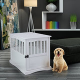 "Casual Home 600-41 Wooden Pet Crate, White, 24"" H"