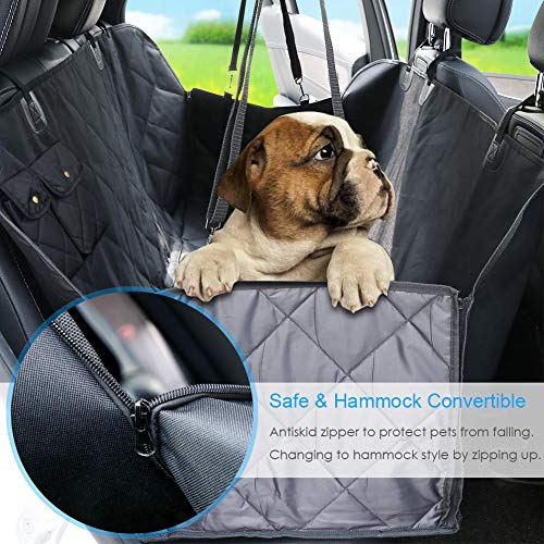 URPOWER Dog Seat Cover Car Seat Cover for Pets 100%Waterproof Pet Seat Cover Hammock 600D Heavy Duty Scratch Proof Nonslip Durable Soft Pet Back Seat Covers for Cars Trucks and SUVs