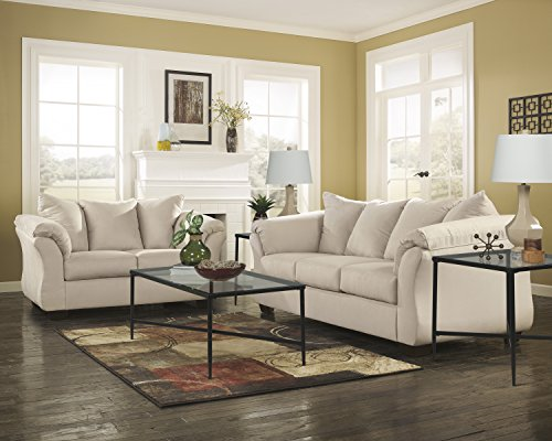 Ashley Furniture Signature Design - Darcy Sleeper Sofa - Full Size - Ultra Soft Upholstery - Contemporary - Stone