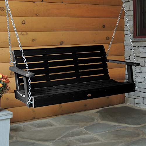 Highwood AD-PORW2-BKE Weatherly Porch Swing, 4 Feet, Black