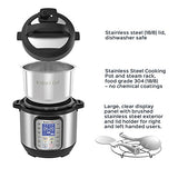 Instant Pot DUO Plus 3 Qt 9-in-1 Multi- Use Programmable Pressure Cooker, Slow Cooker, Rice Cooker, Yogurt Maker, Egg Cooker, Sauté, Steamer, Warmer, and Sterilizer