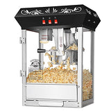 Countertop Movie Night Popcorn Popper Machine-Makes Approx. 3 Gallons Per Batch- by Superior Popcorn Company- (8 oz., Black)