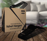 Utopia Home Premium Non-Slip Velvet Hangers (Pack of 50) - Heavy Duty - Coat Hangers - Pant Hangers - Black