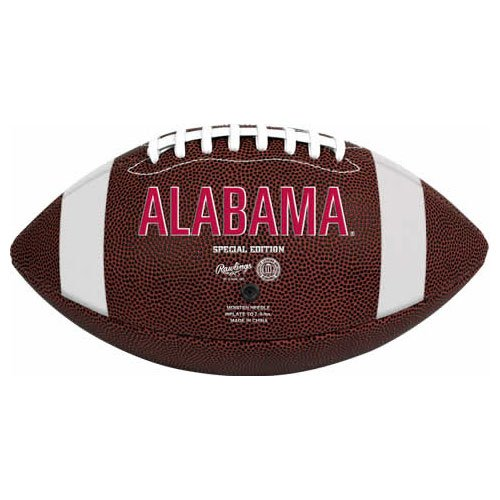 NCAA Game Time Full Size Football , Alabama Crimson Tide, Brown, Full Size