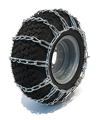 The ROP Shop Pair 2 Link TIRE Chains 20x10.00x8 for Sears Craftsman Lawn Mower Tractor Rider