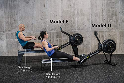 Concept2 Model E with PM5 Performance Monitor Indoor Rower Rowing Machine Black