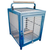 King's Cages ATT 1214 Aluminum Parrot Bird Cage pet Travel Carriers Cages Toy Toys (Blue)
