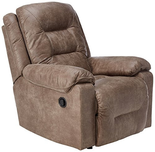 Ashley Furniture Signature Design - Rotation Recliner Chair - Manual Reclining - Smoke Gray Brown