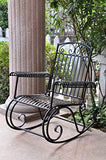 International Caravan Iron Scroll Patio Rocker